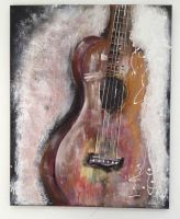 forgotten guitar-16x20inch-Acrylic on canvas