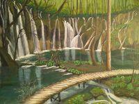 plitvicka-jezera-most-akril-50x40