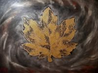 acryl technik auf leinwand expression art.80×60 cmtitel golden leaf