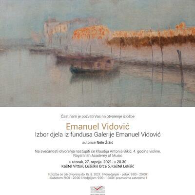 Emanuel Vidović – Izbor djela iz fundusa Galerije Emanuel Vidović