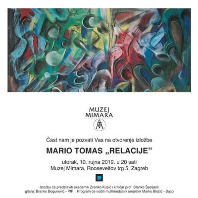 """Izložba slika Maria Tomasa """"Relacije"""""""