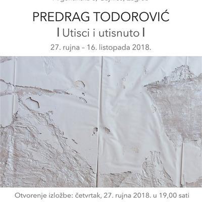 Izložba Predraga Todorovića 'Utisci i utisnuto'