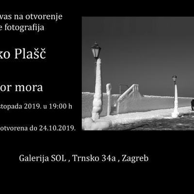 """Izložba fotografija Željka Plašča """"Govor mora"""""""
