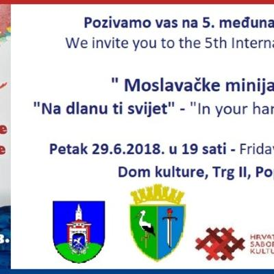 """5. međunarodna izložba """"Moslavačke minijature"""""""