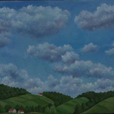 Izložba Josipa Rubesa u Krapinskim Toplicama po nazivom Oblaci nad Zagorjem...