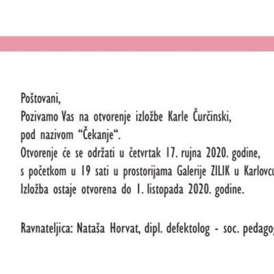 """Samostalna izložba Karle Čurčinski """"Čekanje"""""""