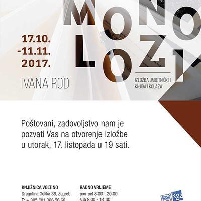 Izložba umjetničkih knjiga i kolaža Ivana Rod: Monolozi...