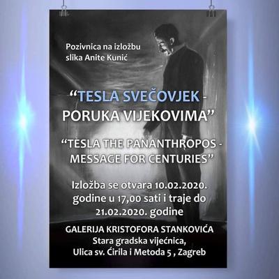 """Izložba slika Anite Kunić """"Tesla svečovjek - poruka vijekovima"""""""