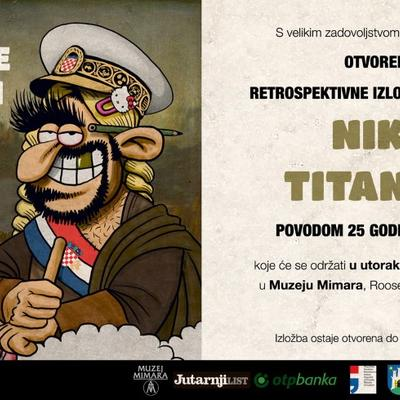 "Izložba karikatura Nika Titanika  ""Kronika hrvatske gluposti"""