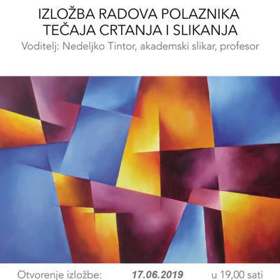 Izložba radova polaznika tečaja crtanja i slikanja - 2019.