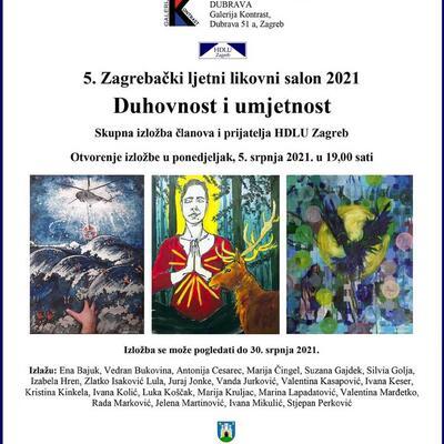 """5. Zagrebački ljetni likovni salon 2021 – Duhovnost i umjetnost"""